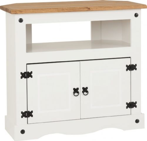 Corin Corner TV Unit, White